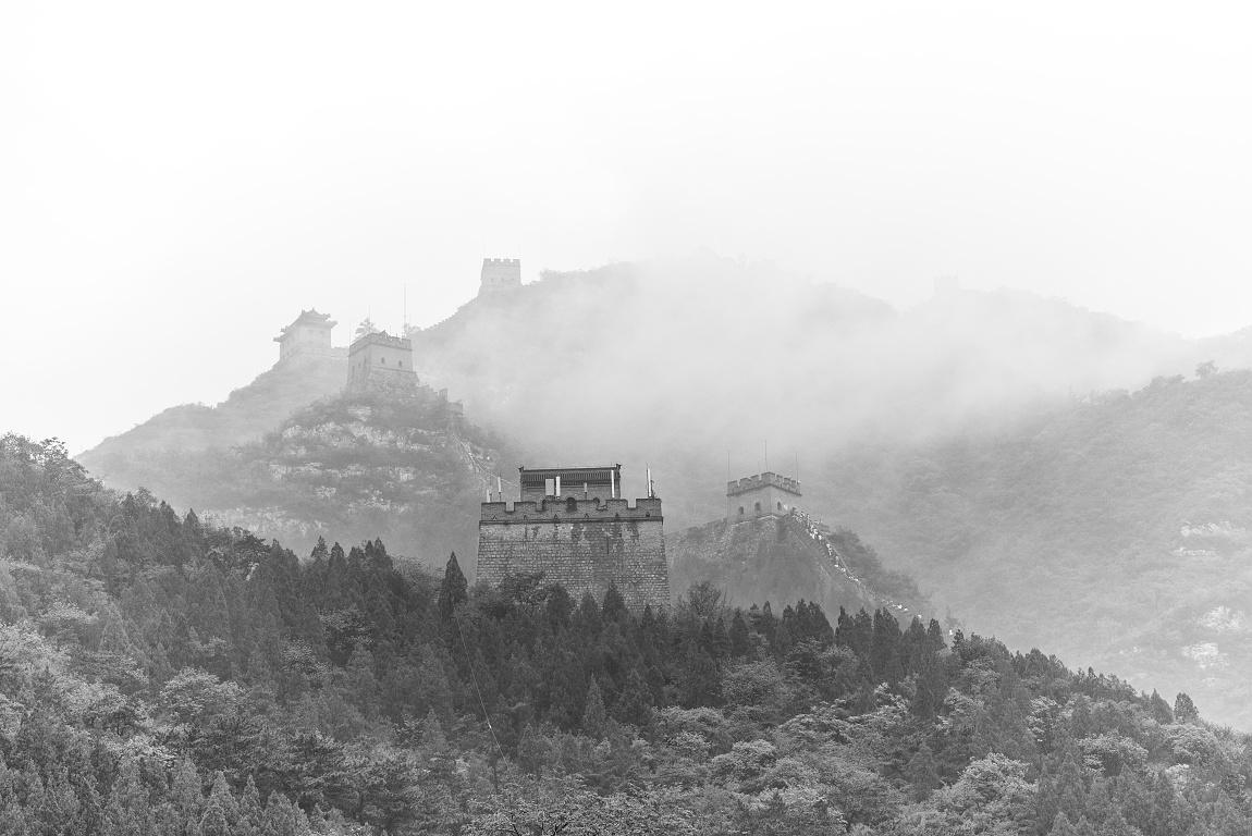 Čínská zeď v mlze