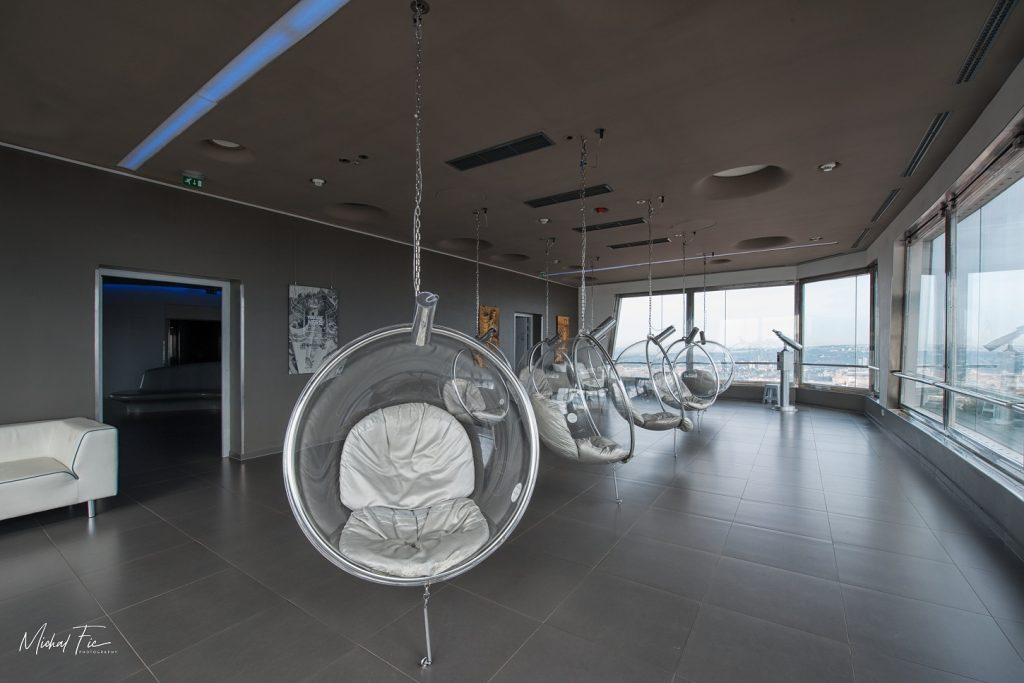 Moderní interiér vysílač Žižkov